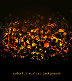 Colorful musical background