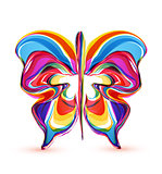 Vector abstract colorful butterflies