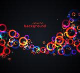 Abstract colored circles