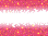Red pixel mosaic background. Vector illustration.
