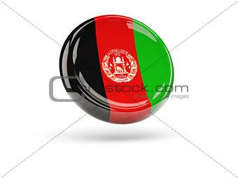 Flag of afghanistan. Round icon