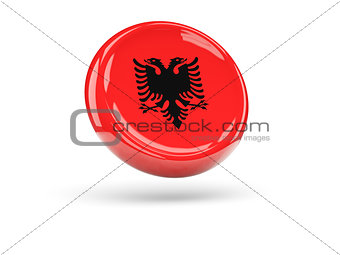 Flag of albania. Round icon