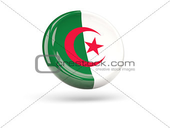 Flag of algeria. Round icon