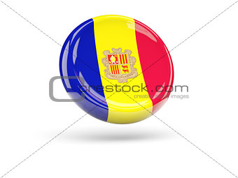 Flag of andorra. Round icon
