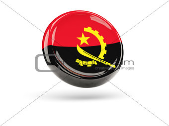 Flag of angola. Round icon