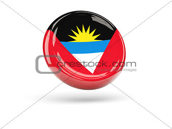 Flag of antigua and barbuda. Round icon
