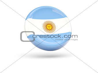 Flag of argentina. Round icon