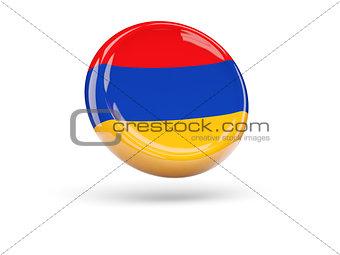 Flag of armenia. Round icon