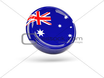 Flag of australia. Round icon