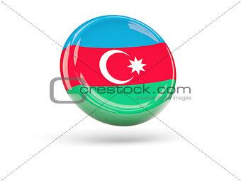Flag of azerbaijan. Round icon