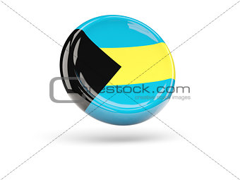 Flag of bahamas. Round icon
