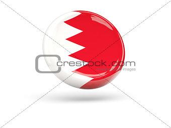 Flag of bahrain. Round icon
