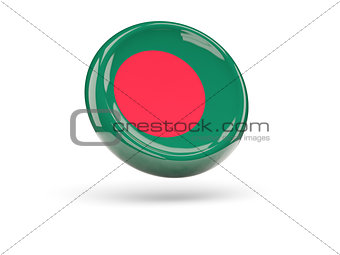 Flag of bangladesh. Round icon