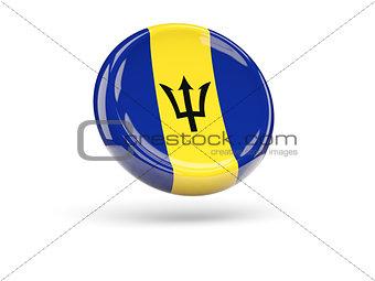 Flag of barbados. Round icon