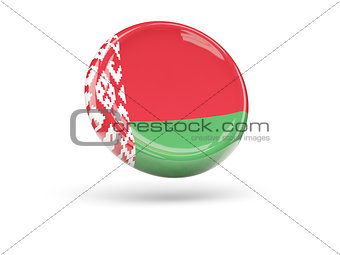 Flag of belarus. Round icon
