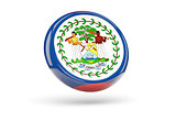 Flag of belize. Round icon