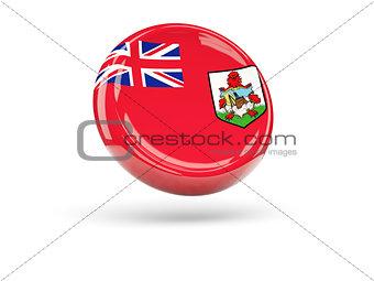 Flag of bermuda. Round icon