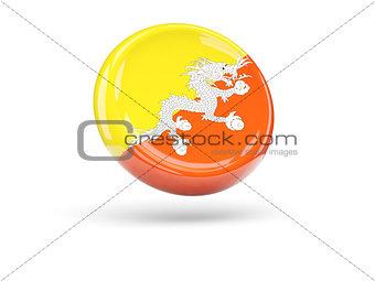 Flag of bhutan. Round icon