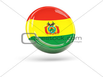 Flag of bolivia. Round icon