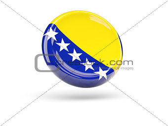 Flag of bosnia and herzegovina. Round icon