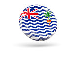 Flag of british indian ocean territory. Round icon