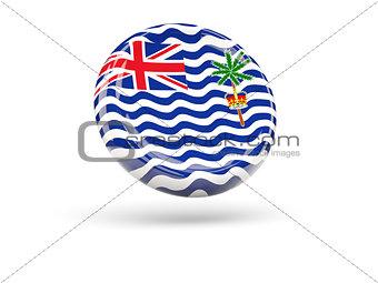 Flag of british indian ocean territory. Round icon