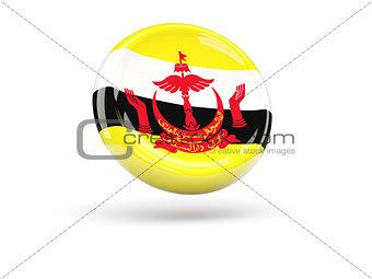 Flag of brunei. Round icon