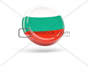 Flag of bulgaria. Round icon
