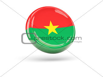 Flag of burkina faso. Round icon