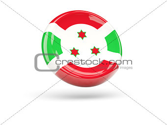 Flag of burundi. Round icon