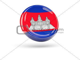 Flag of cambodia. Round icon