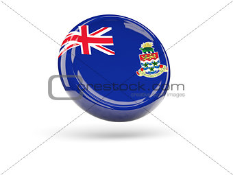 Flag of cayman islands. Round icon