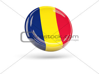 Flag of chad. Round icon
