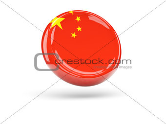 Flag of china. Round icon