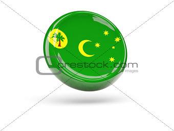 Flag of cocos islands. Round icon