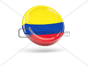 Flag of colombia. Round icon