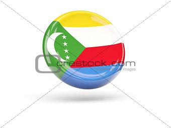 Flag of comoros. Round icon