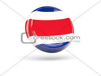 Flag of costa rica. Round icon