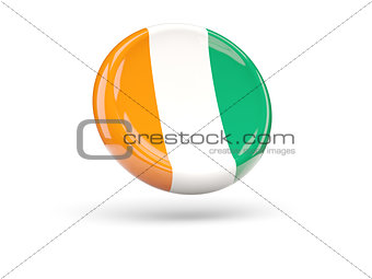 Flag of cote d Ivoire. Round icon