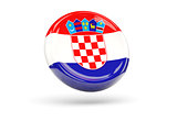 Flag of croatia. Round icon