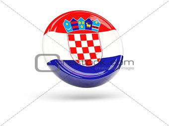 Flag of croatia. Round icon