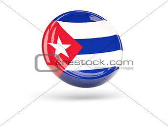 Flag of cuba. Round icon