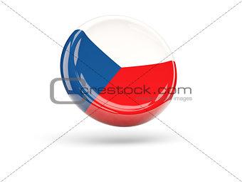Flag of czech republic. Round icon
