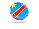 Flag of democratic republic of the congo. Round icon
