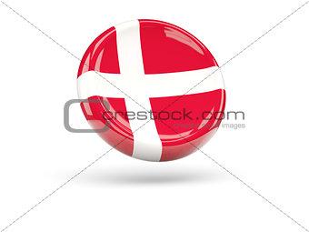 Flag of denmark. Round icon