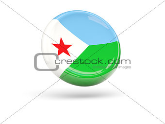 Flag of djibouti. Round icon