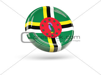 Flag of dominica. Round icon