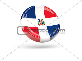 Flag of dominican republic. Round icon