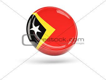 Flag of east timor. Round icon