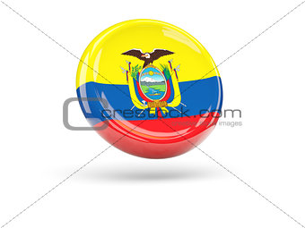 Flag of ecuador. Round icon